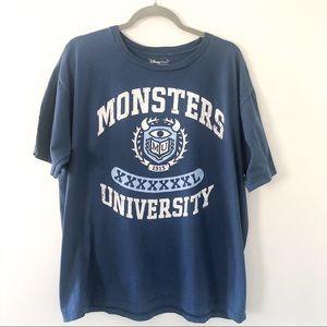 DISNEY monsters inc graphic tshirt XL